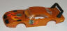 resin finished Superbird body in orange/flames #3